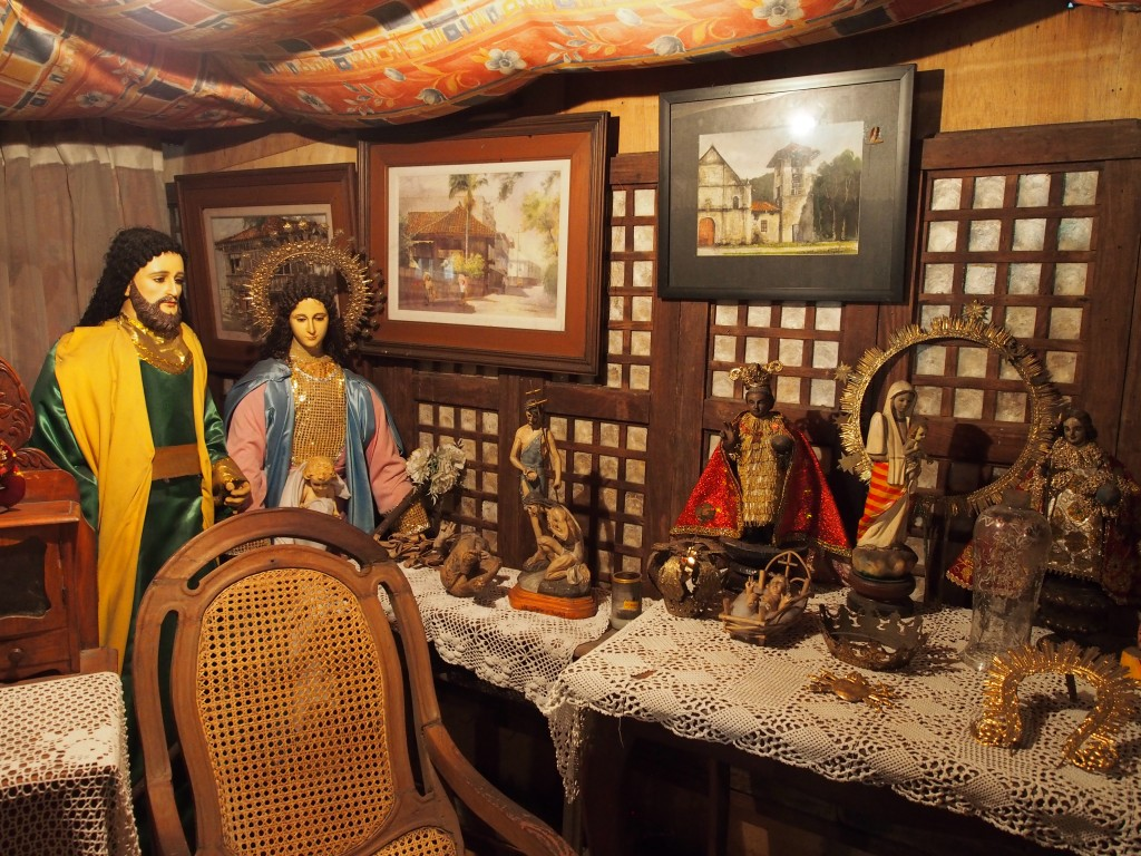 Statues and artefacts in Yap-San Diego Ancestral house Cebu City