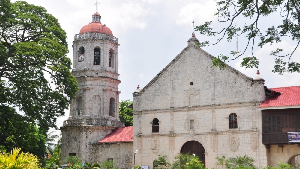 Front of San Guillermo de Aquitania Parish Church in Dalaguete