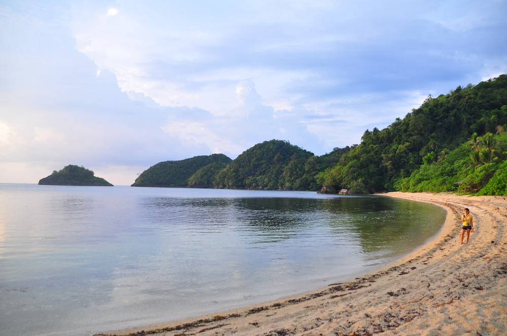 Deserted beach on Danjugan Island