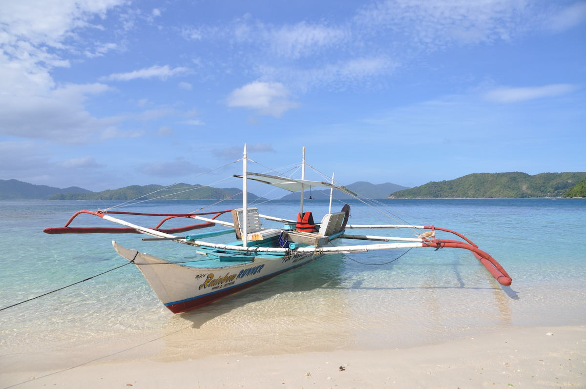 Boat on Exotic Island Port Barton Palawan