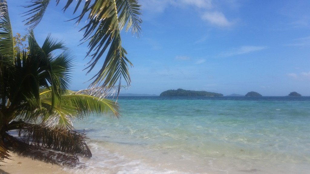 View from Beach of German Island Port Barton Palawan