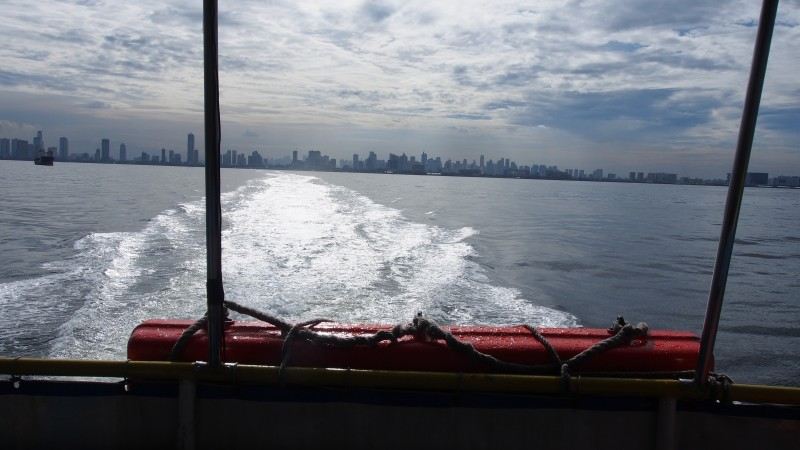 View on Manila from Sun Cruises ferry to Corregidor.Picture by Frans Betgem