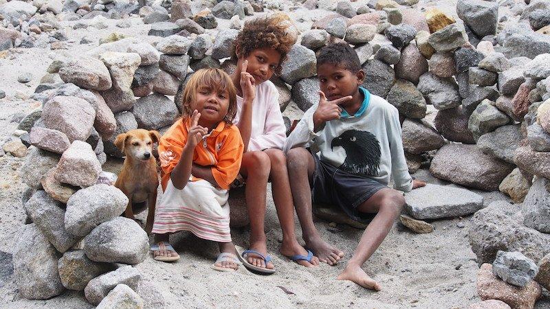 Aetas children. Mount Pinatubo. Philippines facts and figures