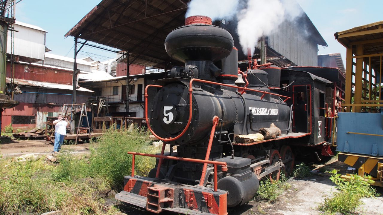 Old steam train on Negros Occidental