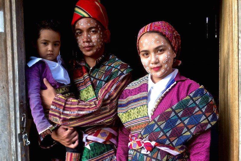 Yakan couple with child in Zamboanga City Mindanao