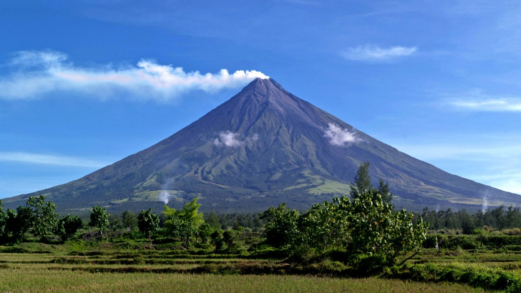 Perfect cone of Mayon Volcano Philippines Travel Information