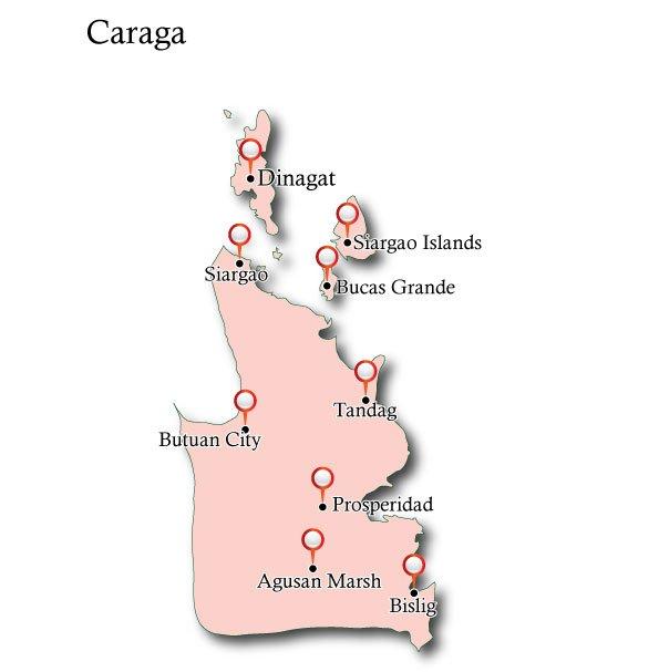 Map Caraga
