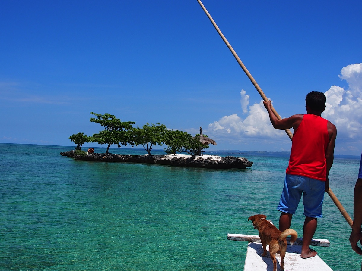 Standup paddle boarding off the coast of Cebu City