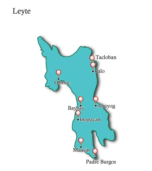 Map Leyte