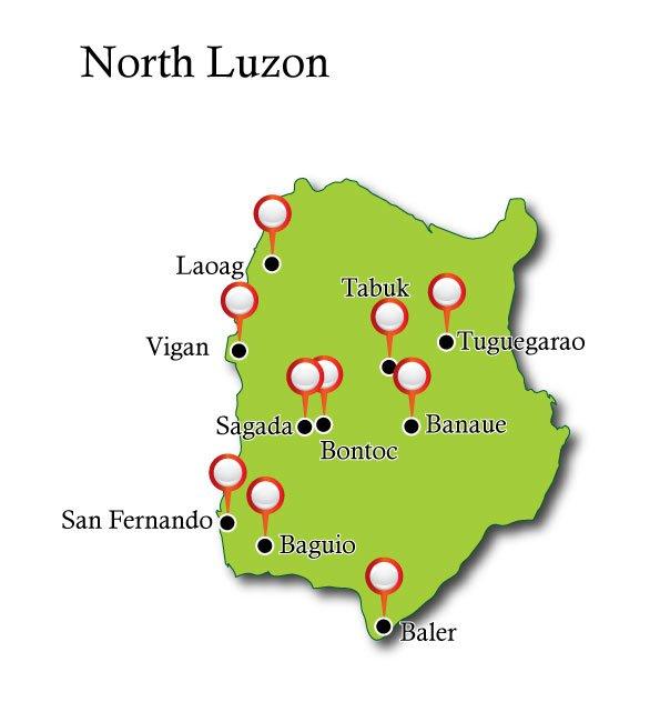 Map North Luzon