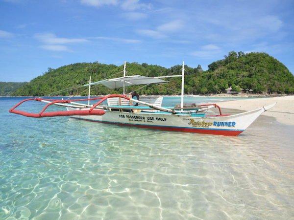 Local Boat Bangka on El Nido Beach