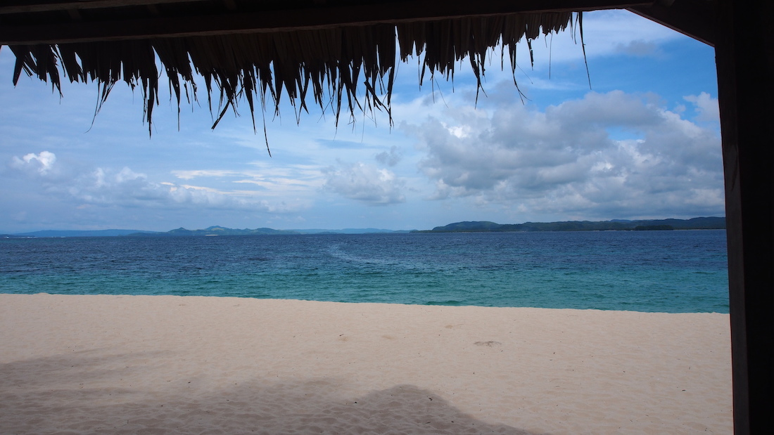 Dako Island Siargao view on beach and sea