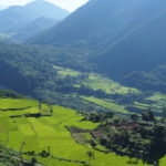 Mountain province view with rice terraces