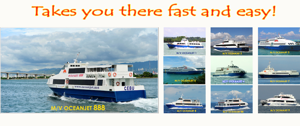 the different Oceanjet vessels