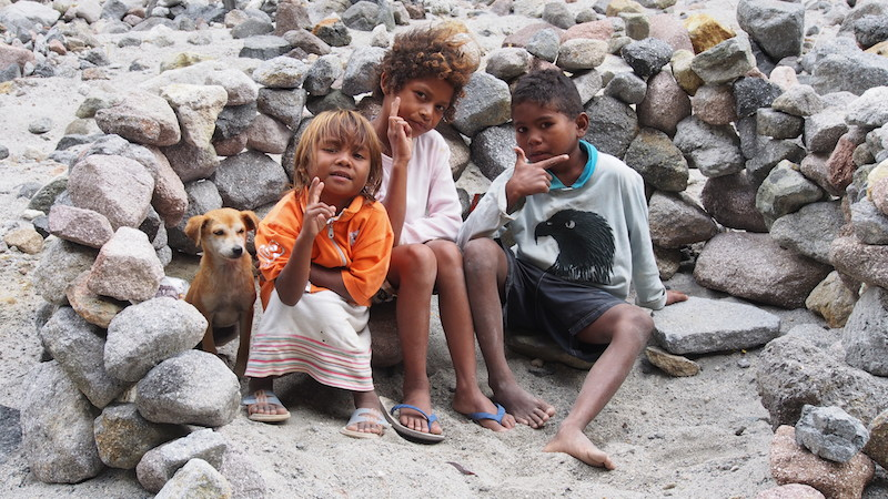 Aetas children. Mount Pinatubo. Philippines facts and figures