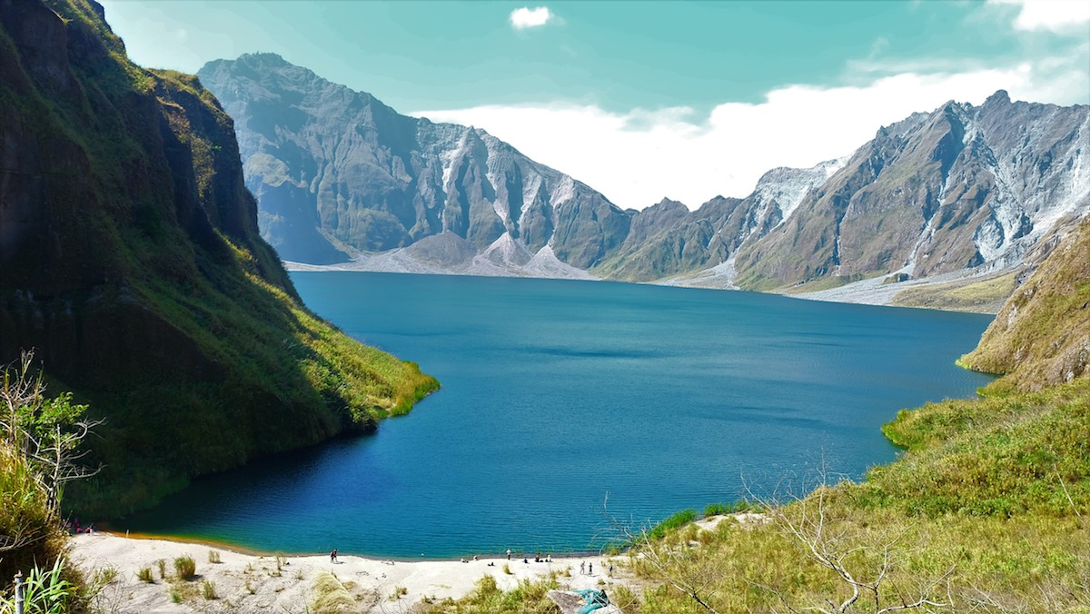 The crater lake of Mount Pinatubo Explore Luzon