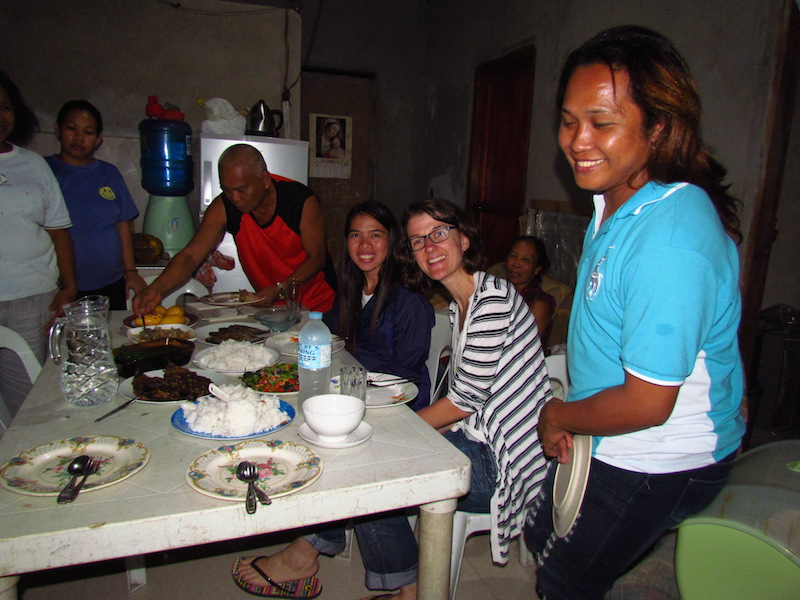Guests before dinner at the Siquijor Homestay
