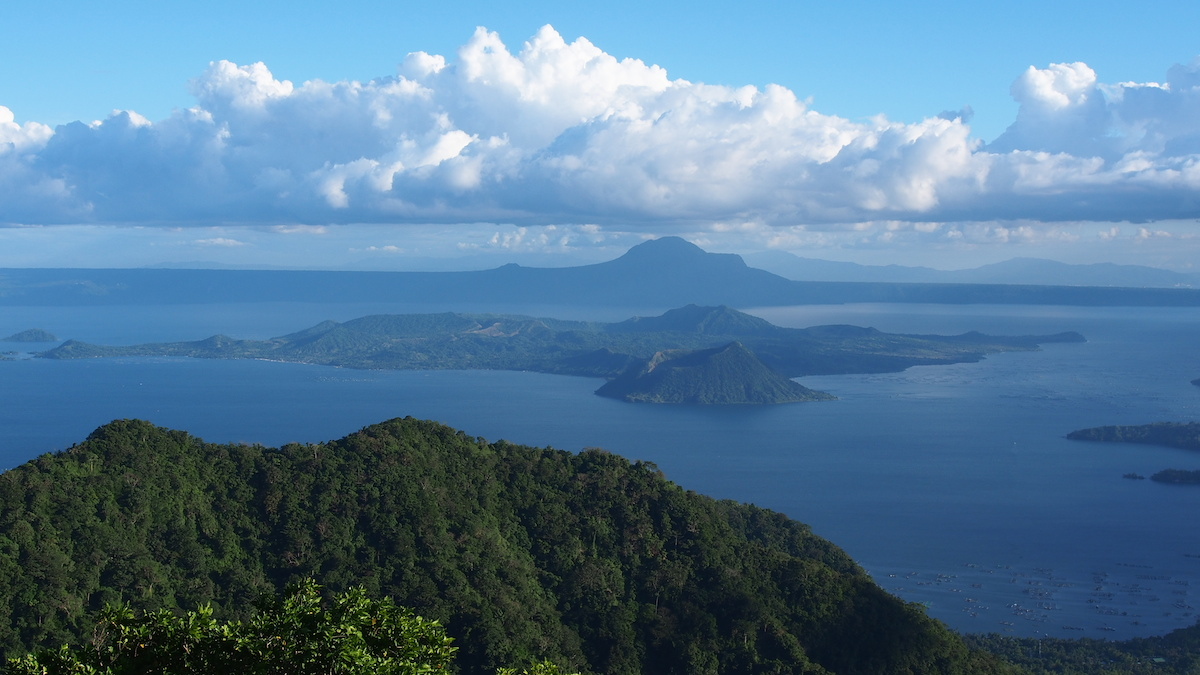 Overview of Taal Lake with the volcanic island in the middle