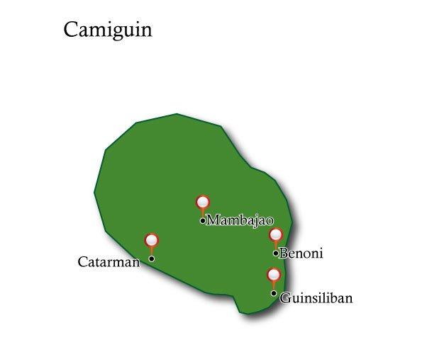 Map Camiguin