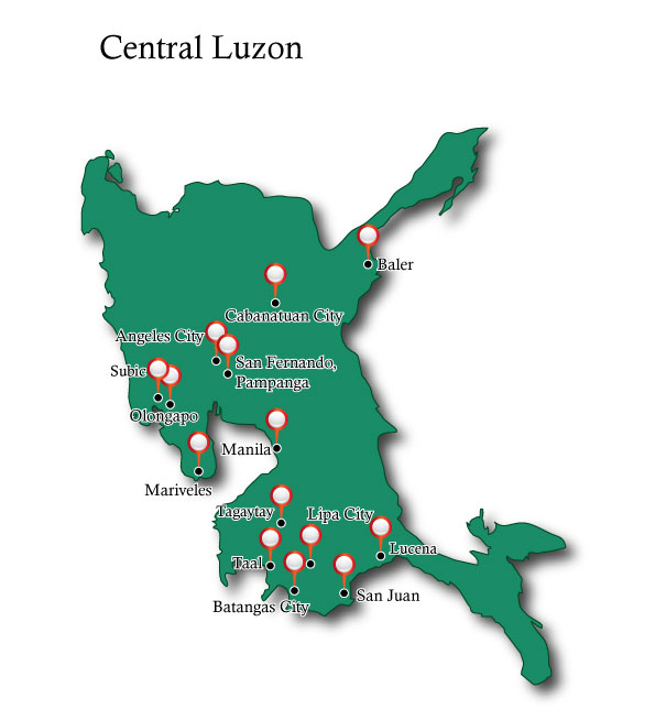 Map Central Luzon