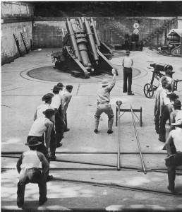 Corregidor Island. Battery Geary shooting practice