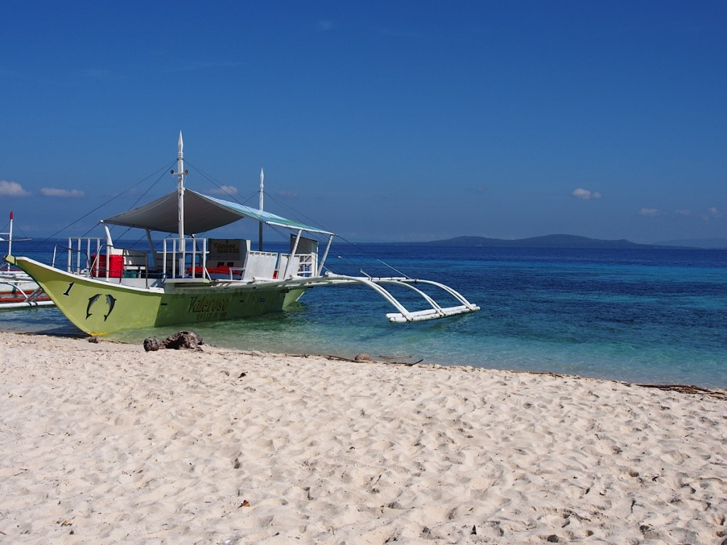 Local boat on beach of Mindoro
