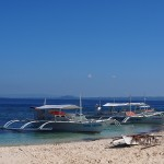 Two boats on Mindoro Beach