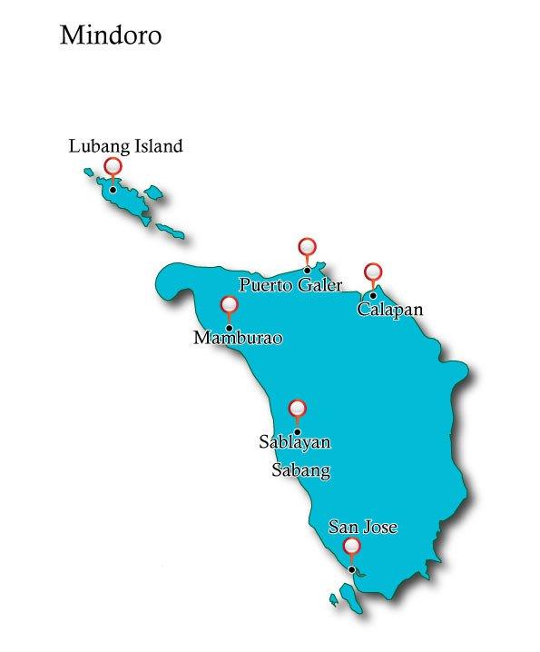 Map Mindoro