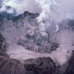 Caldera of Mount Pinatubo after eruption in 1991