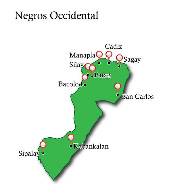 Map Negros Occidental