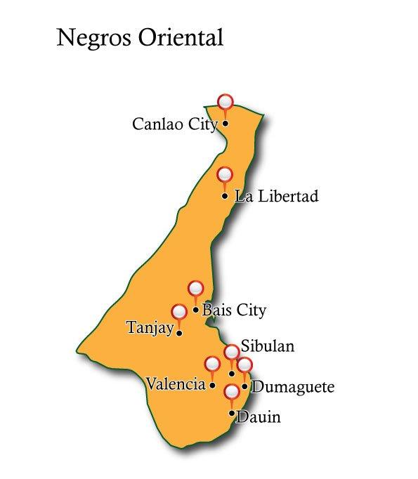 Map Negros Oriental